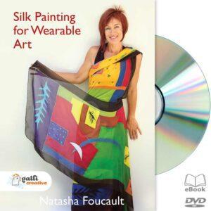 silk painting for wearable art with natasha foucault dvd cover art image