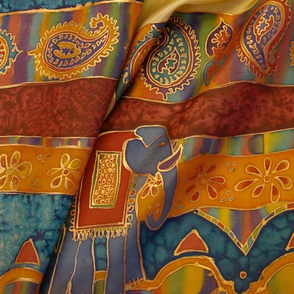 jill kennedy gold gutta resist silk painting workshop