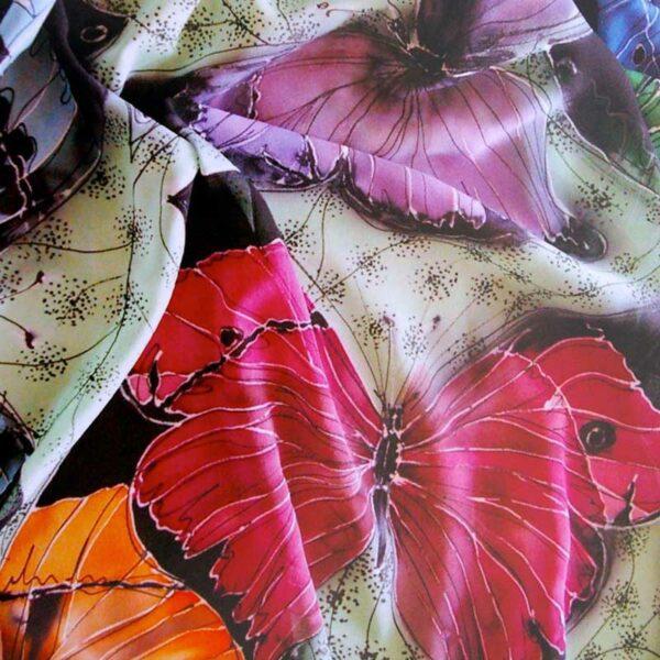jill kennedy batik wax silk painting with kitska fine line resist and black gutta