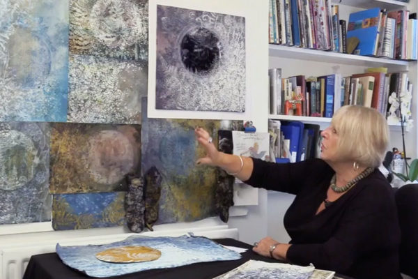 "Image of Jean Littlejohn developing ideas from ""Interpretations: Look, Record, Draw"""