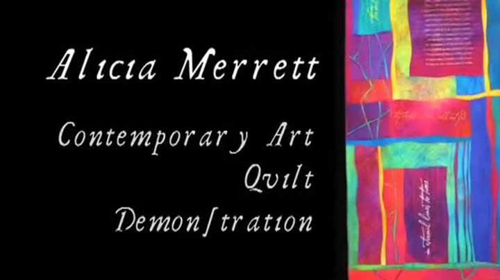Alicia Merrett – Wavy Log Cabin Art Quilt Demonstration – Part 1 of 3