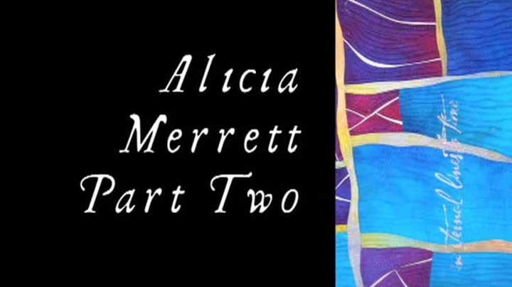 Alicia Merrett – Wavy Log Cabin Art Quilt Demonstration – Part 2 of 3