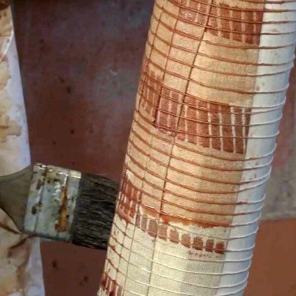 05.kakishibu Persimmon Tannin Shibori Paper Fabric Analisa Hedstrom