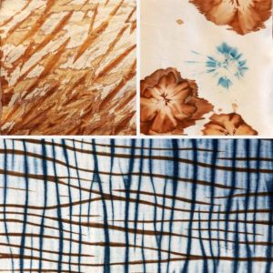 Kakishubu Persimmon Tannin: Shibori on Paper and Fabric