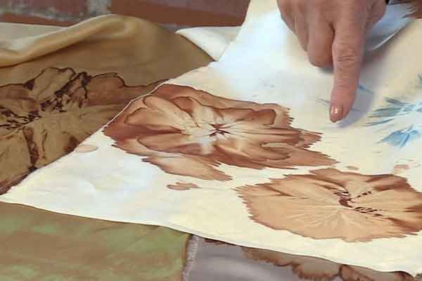 Kakishibu Persimmon Tannin Shibori Paper Fabric Analisa Hedstrom 07